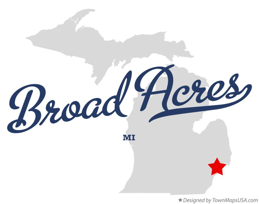 Map of Broad Acres Michigan MI
