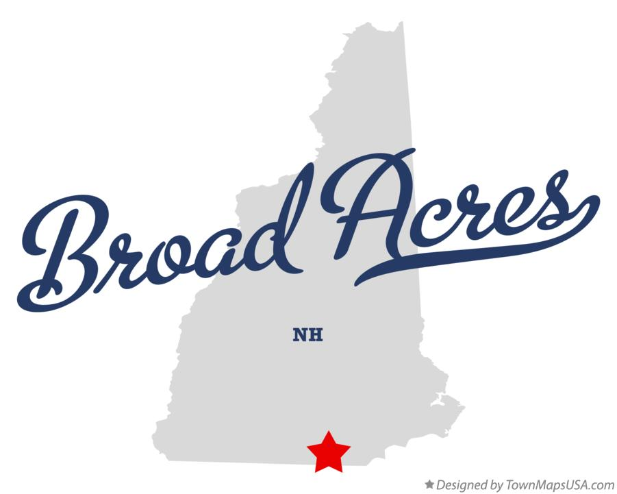 Map of Broad Acres New Hampshire NH