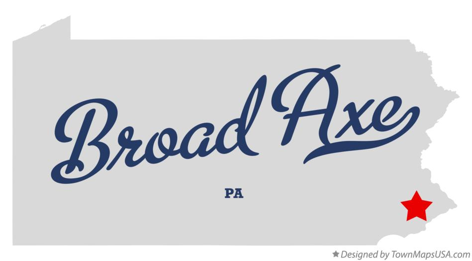 Map of Broad Axe Pennsylvania PA