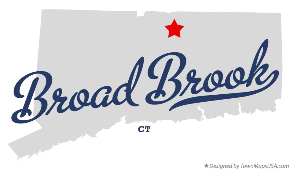 Map of Broad Brook Connecticut CT