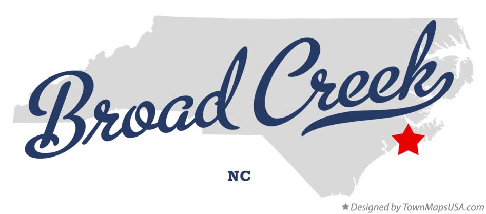 Map of Broad Creek North Carolina NC