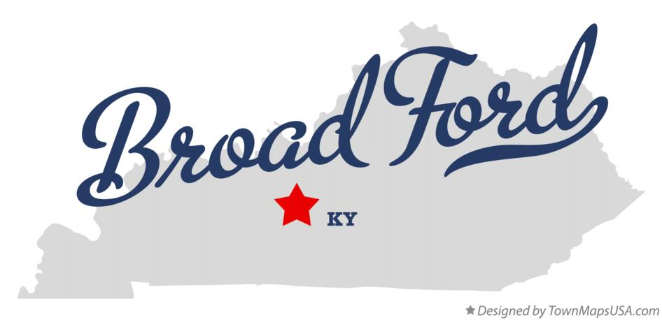 Map of Broad Ford Kentucky KY