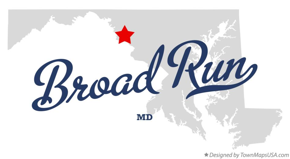 Map of Broad Run Maryland MD
