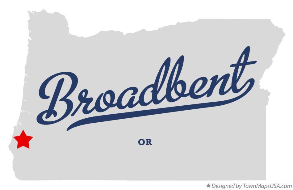 Map of Broadbent Oregon OR