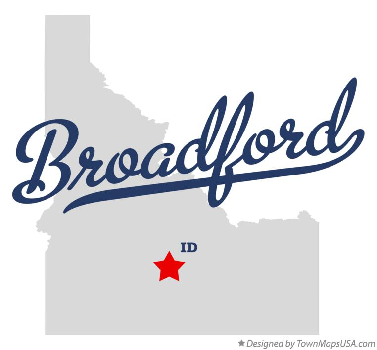Map of Broadford Idaho ID
