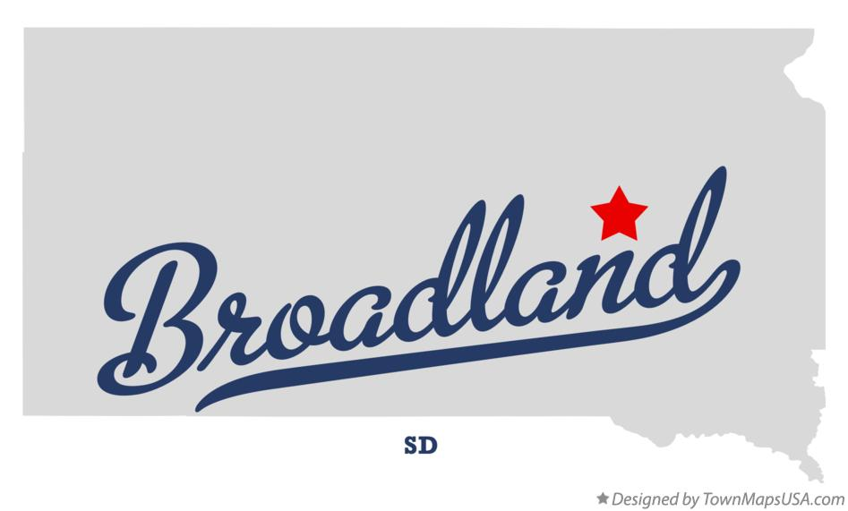 Map of Broadland South Dakota SD