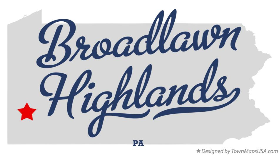Map of Broadlawn Highlands Pennsylvania PA