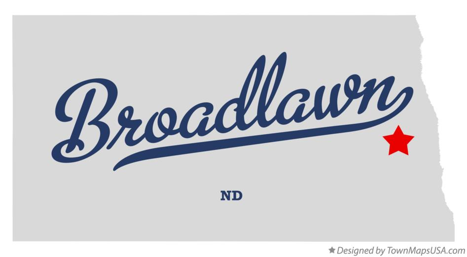 Map of Broadlawn North Dakota ND