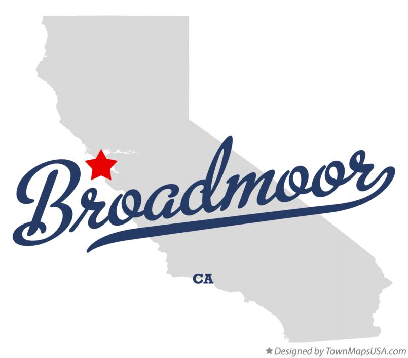 Map of Broadmoor California CA