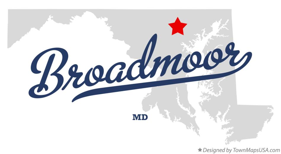 Map of Broadmoor Maryland MD