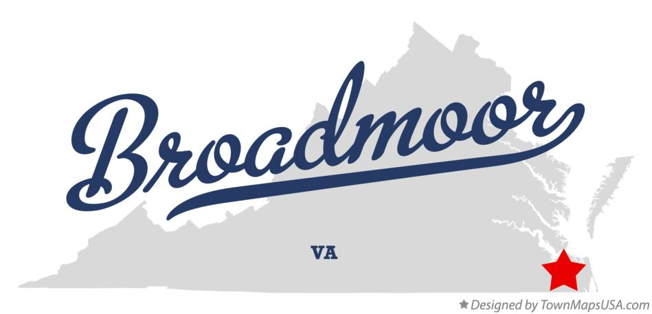 Map of Broadmoor Virginia VA