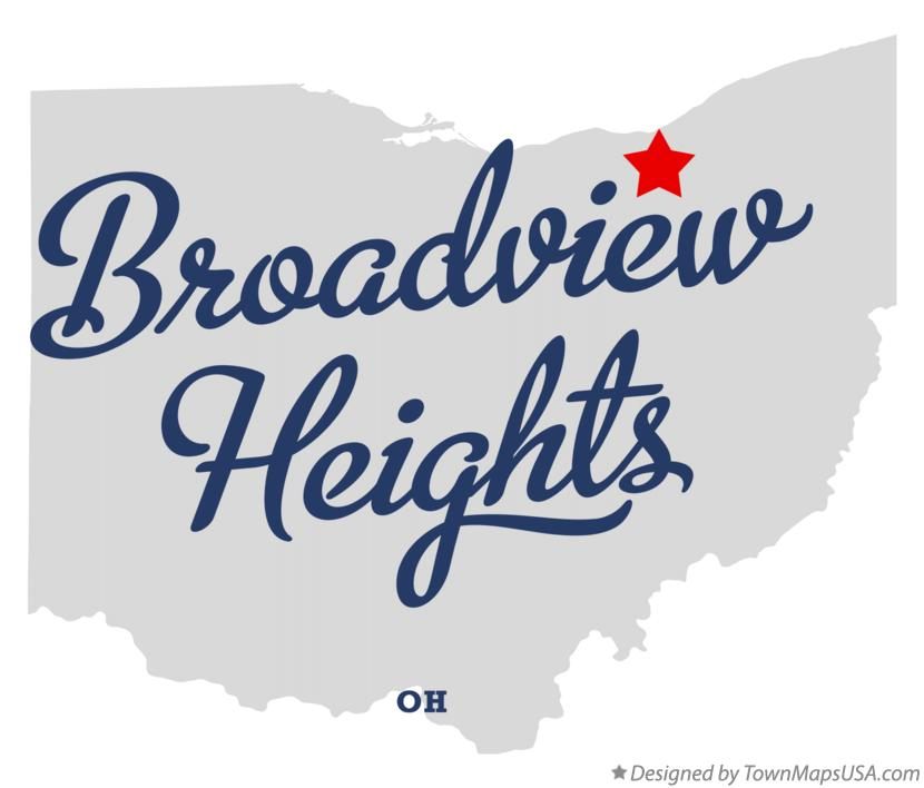 Map of Broadview Heights, OH, Ohio