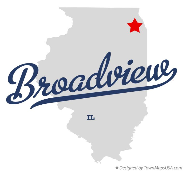 Map of Broadview Illinois IL