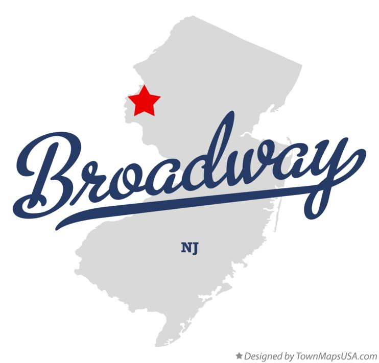 Map of Broadway New Jersey NJ