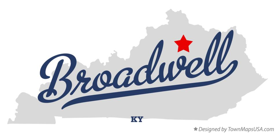 Map of Broadwell Kentucky KY