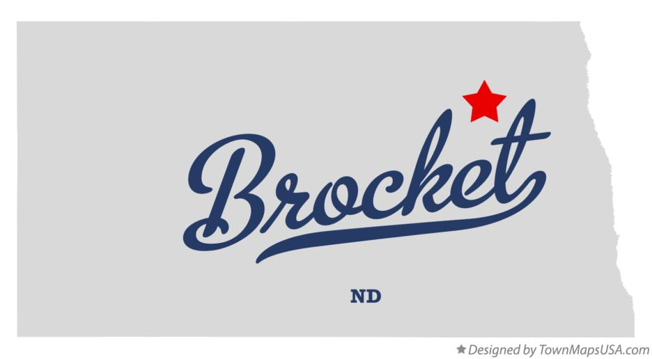 Map of Brocket North Dakota ND