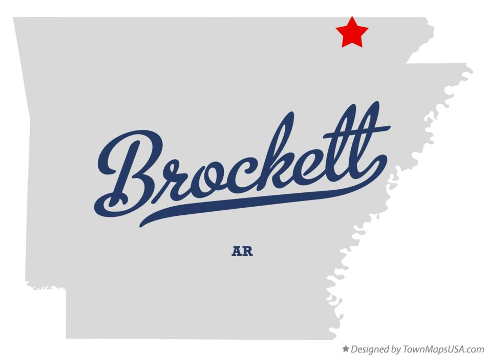 Map of Brockett Arkansas AR