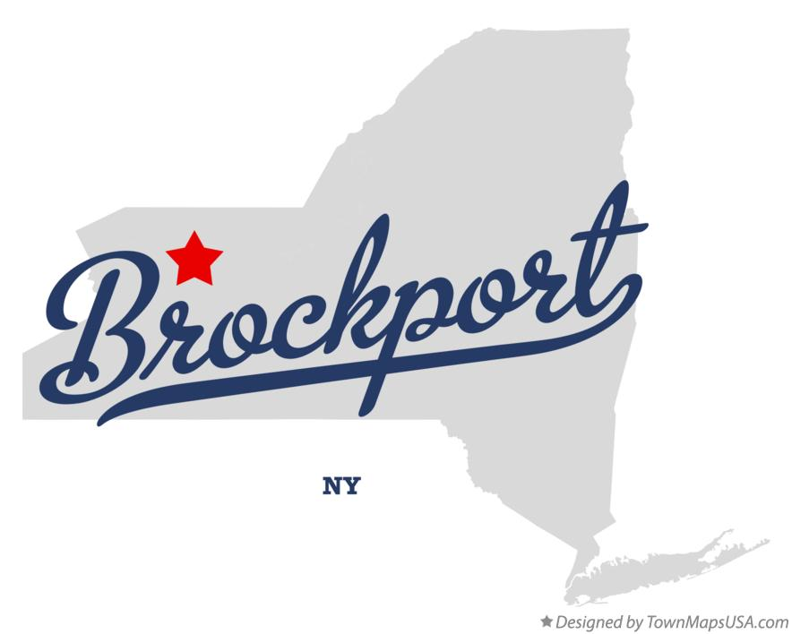 Map of Brockport New York NY