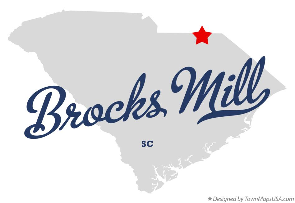 Map of Brocks Mill South Carolina SC