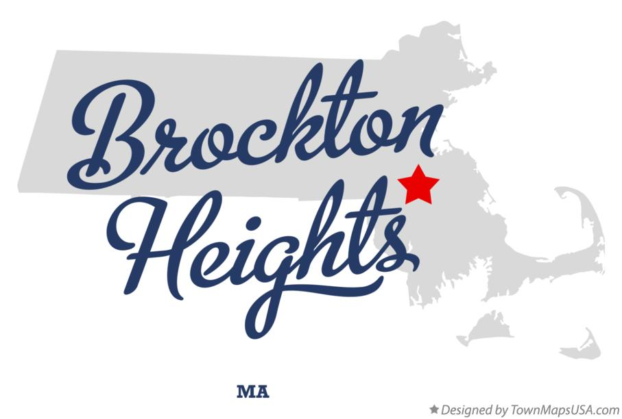 Map of Brockton Heights Massachusetts MA
