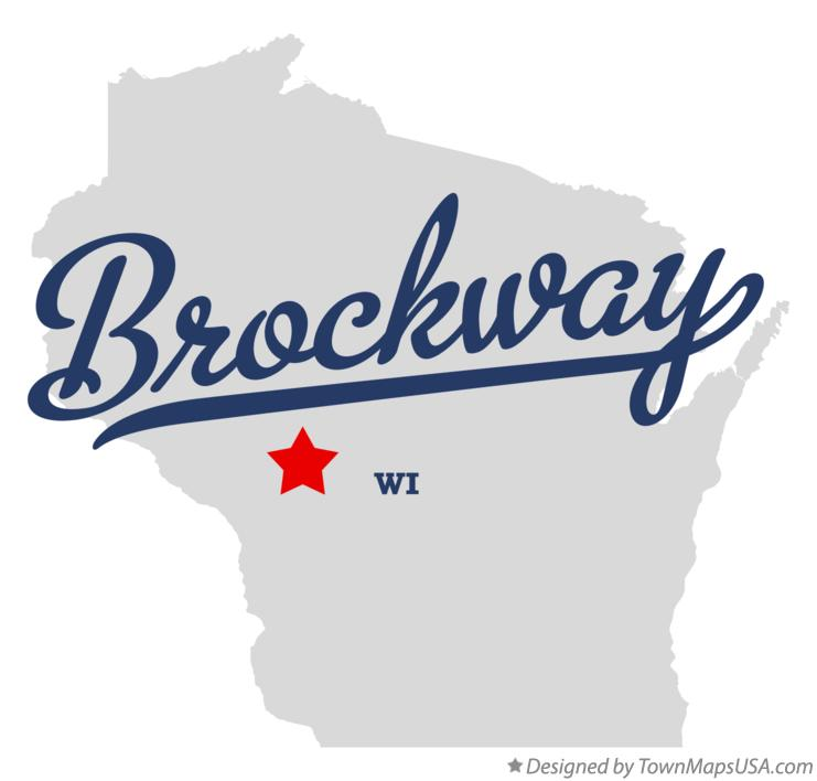 Map of Brockway Wisconsin WI