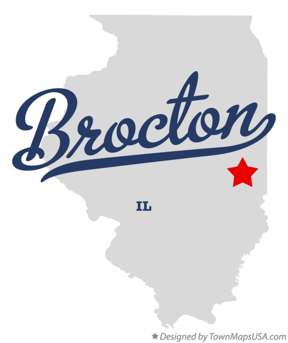 Map of Brocton Illinois IL