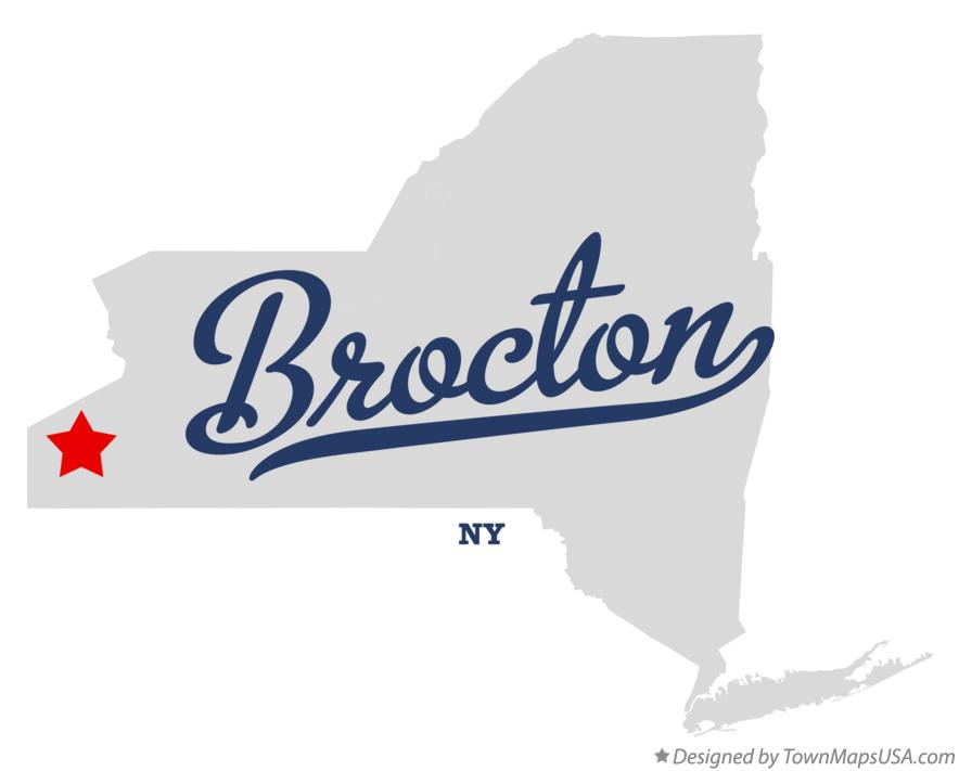 Map of Brocton New York NY