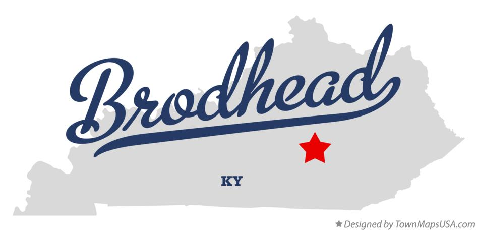 Map of Brodhead Kentucky KY