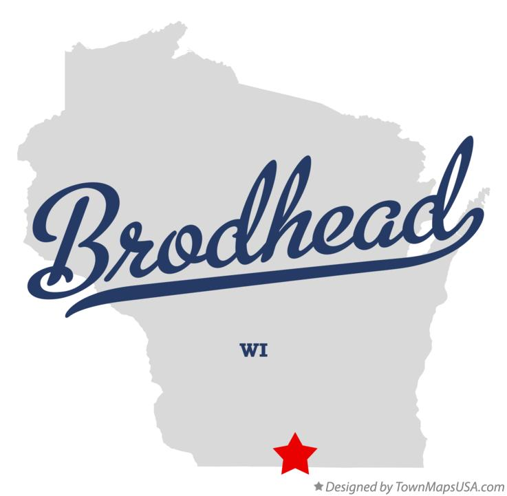 Map of Brodhead Wisconsin WI