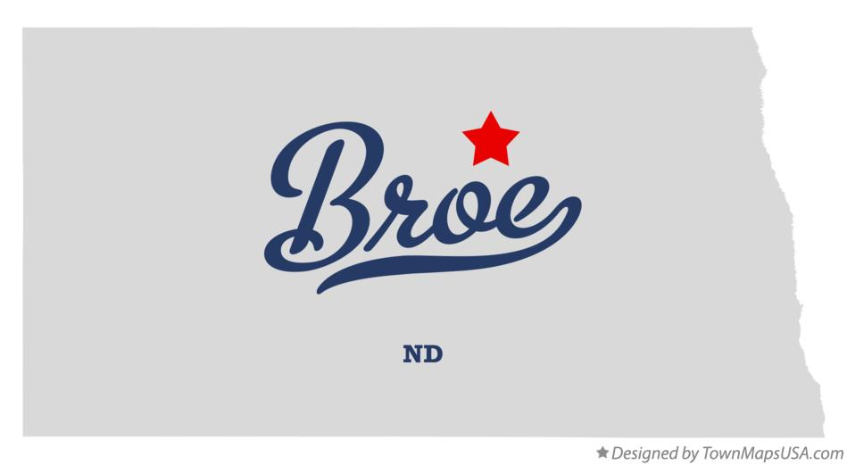 Map of Broe North Dakota ND