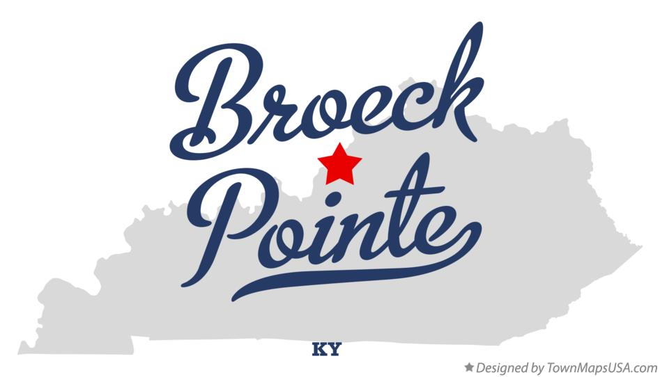 Map of Broeck Pointe Kentucky KY