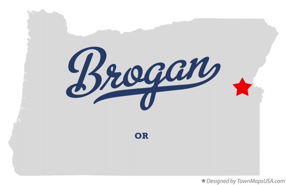 Map of Brogan Oregon OR