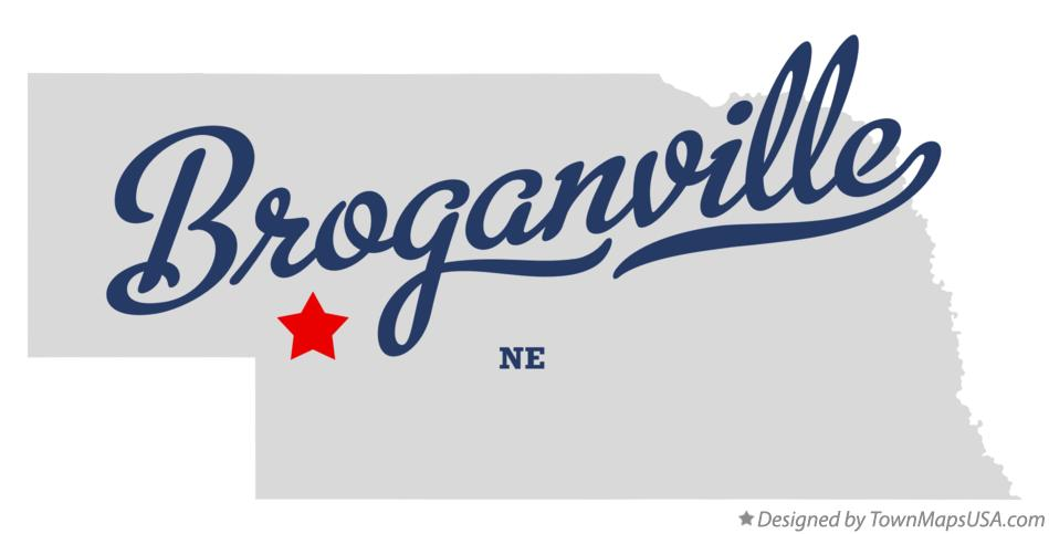 Map of Broganville Nebraska NE