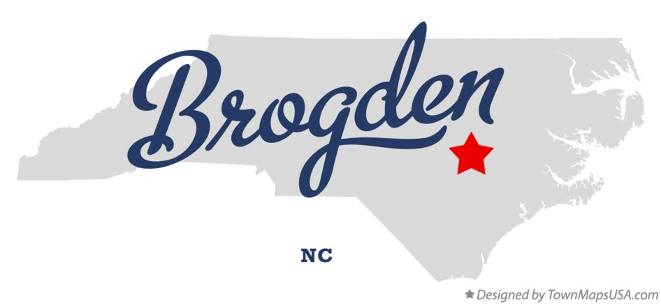 Map of Brogden North Carolina NC