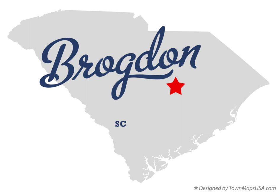 Map of Brogdon South Carolina SC