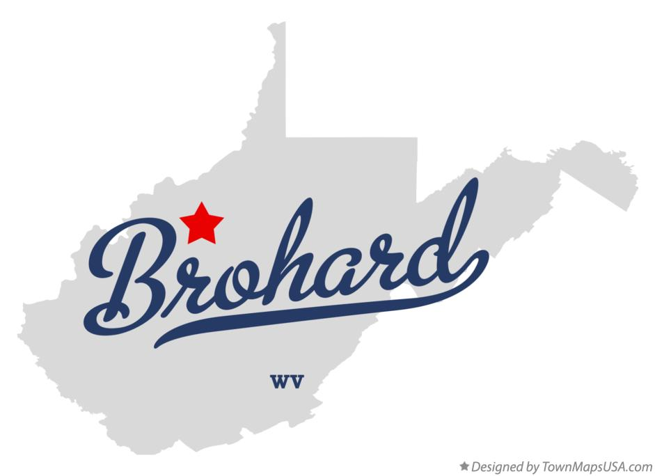 Map of Brohard West Virginia WV