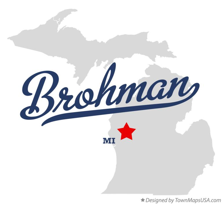 Map of Brohman Michigan MI