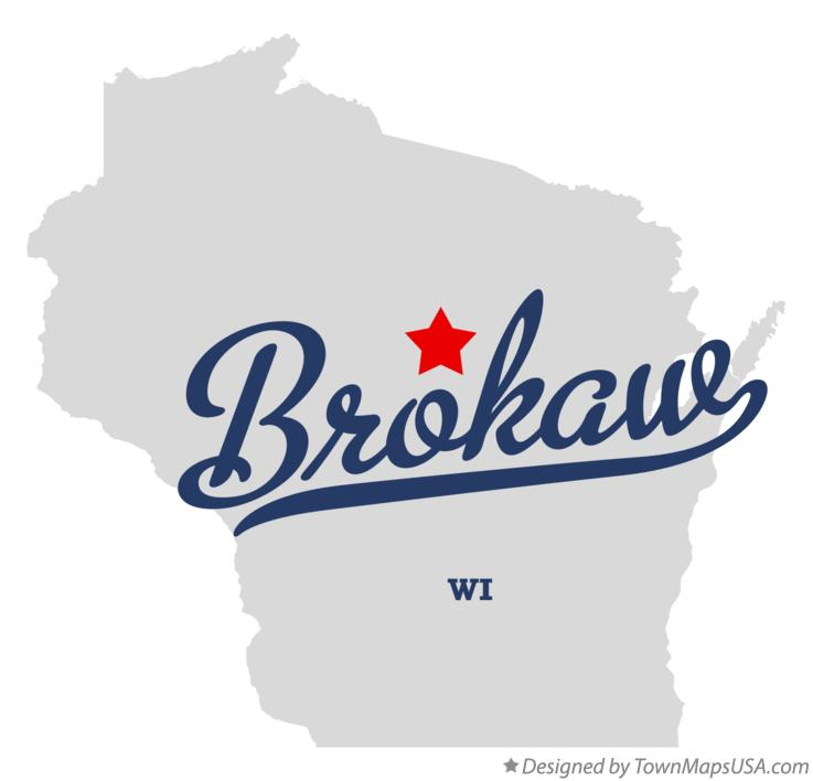 Map of Brokaw Wisconsin WI