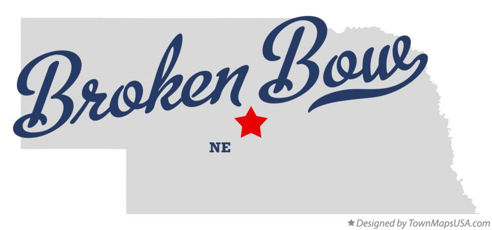 Map Of Broken Bow Ne Nebraska