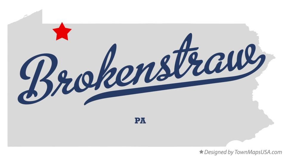Map of Brokenstraw Pennsylvania PA