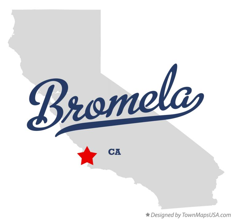 Map of Bromela California CA