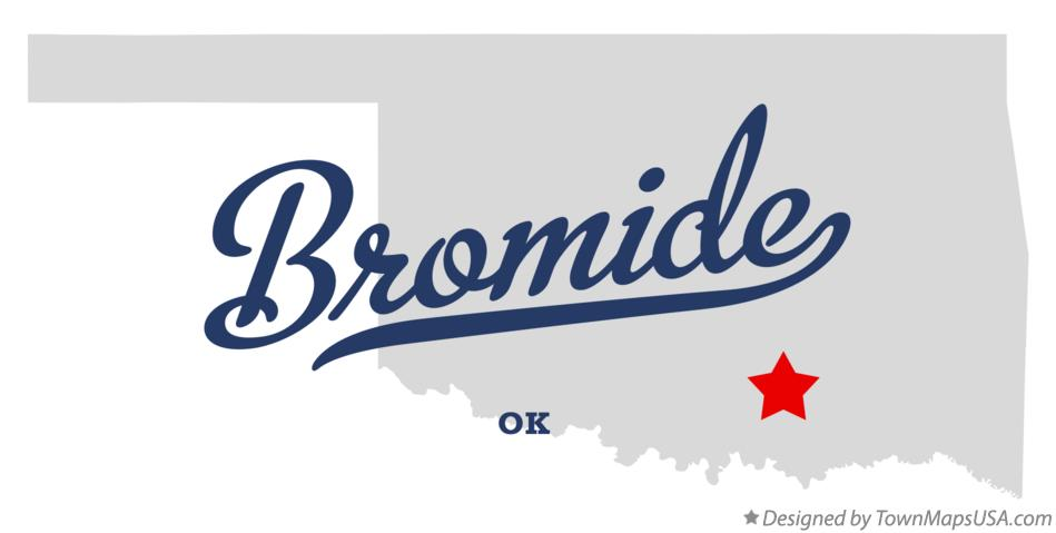 Map of Bromide Oklahoma OK