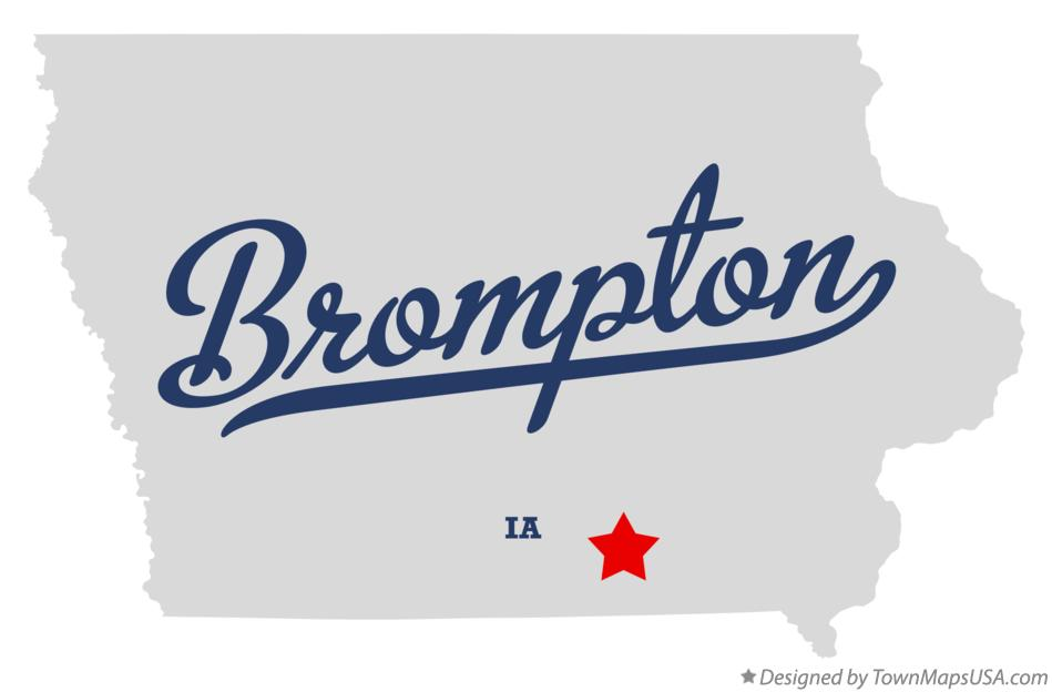Map of Brompton Iowa IA