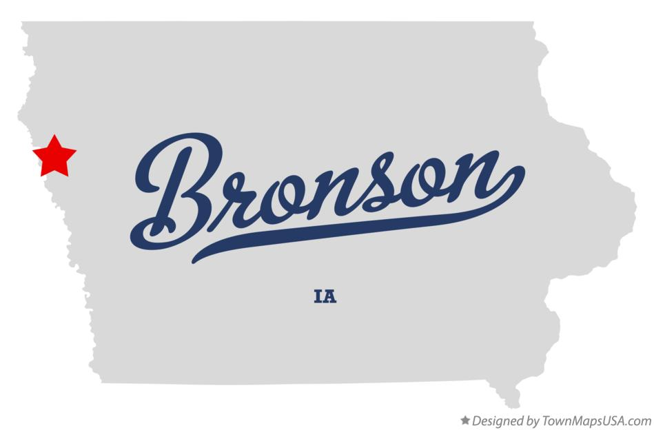 Map of Bronson Iowa IA