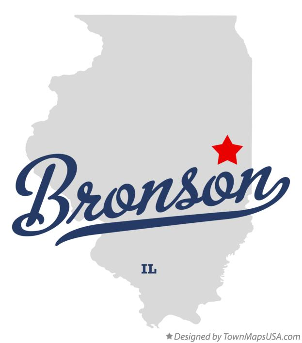 Map of Bronson Illinois IL