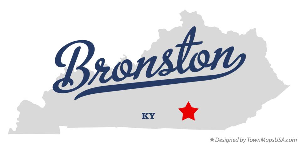 Map of Bronston Kentucky KY