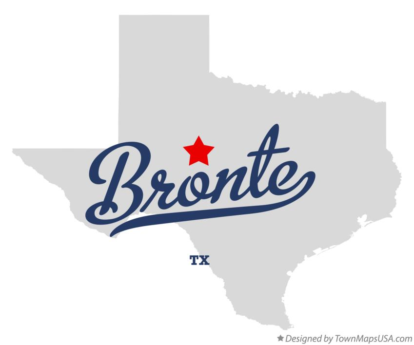 Map of Bronte Texas TX