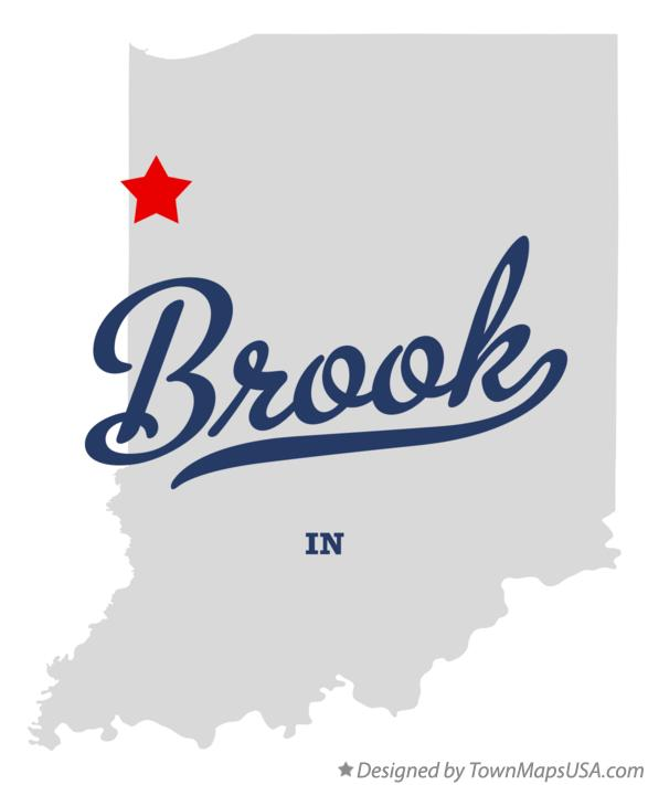 Map of Brook Indiana IN