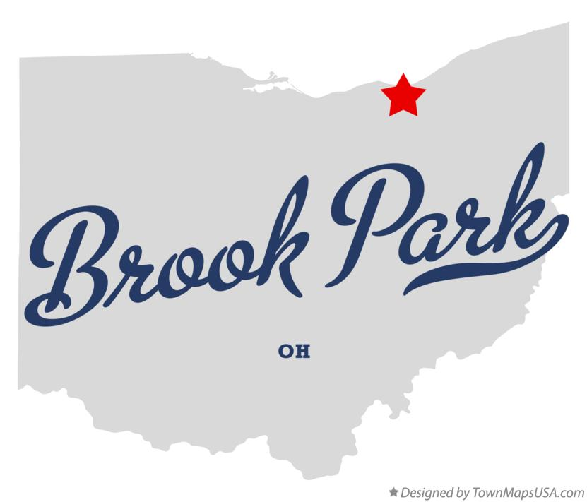 Map of Brook Park Ohio OH