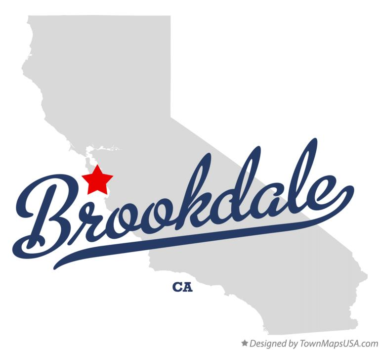 Map of Brookdale California CA